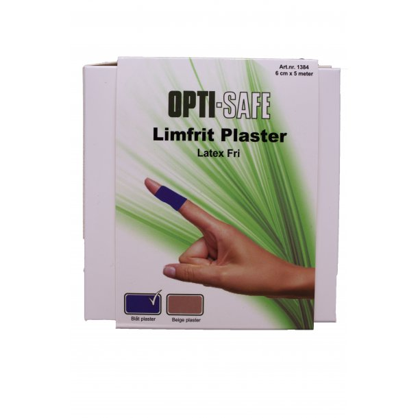 Limfrit Plaster i blå eller natur OPTI-SAFE